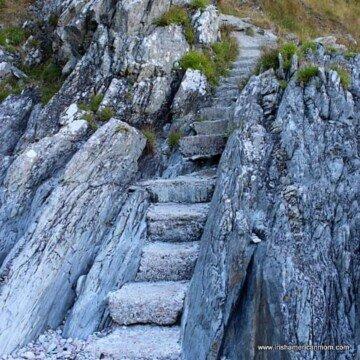 Rocky steps on a cliff