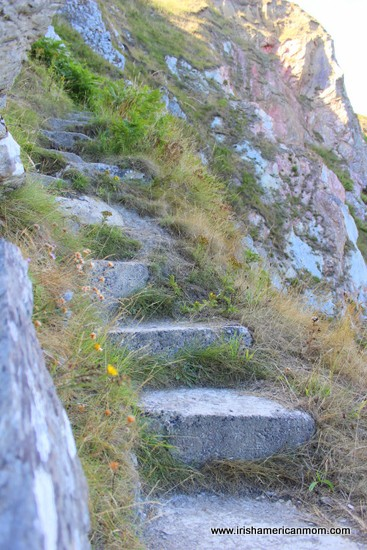 Steps Leading to a Hidden Beach in Howth