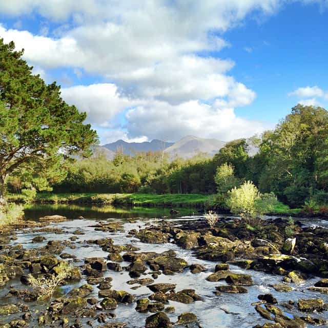 View from the Blackstones Bridge, County Kerry