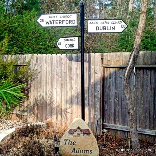 Black and White Irish Signposts