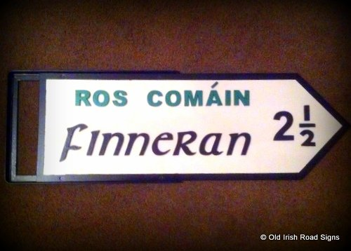 Irish signpost as a gift