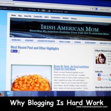 Screen shot of Irish American Mom showing beans on toast recipe