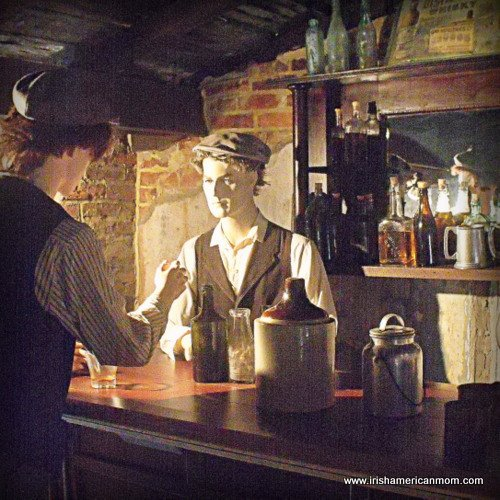 Serving a drink at an old pub or shebeen