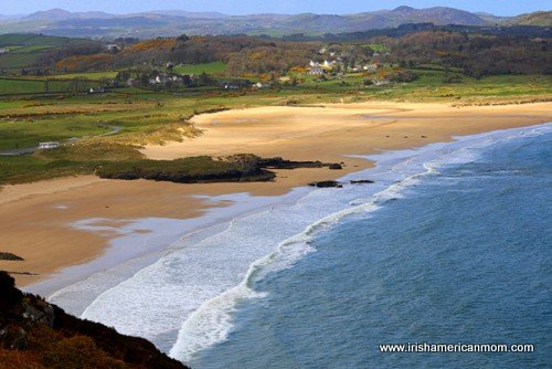 Waves coming on shore at Port Salon or Knockalla in County Donegal in the northwest of Ireland
