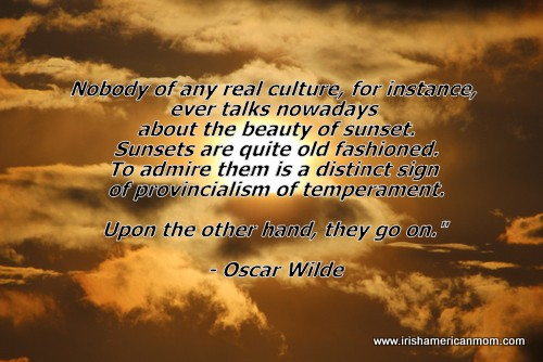 Oscar Wilde quote about sunsets