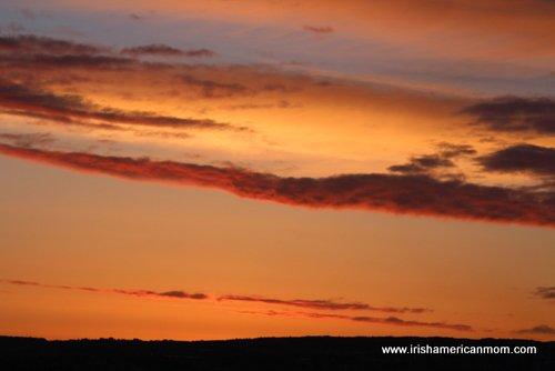 Sunset near Letterkenny, Donegal