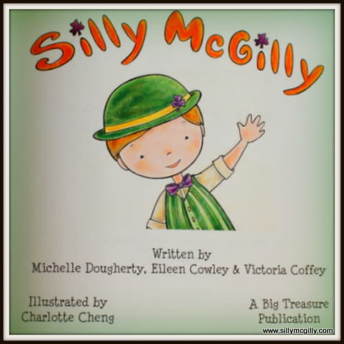 Illustration of Silly McGilly an Irish leprechaun for Saint Patrick's Day