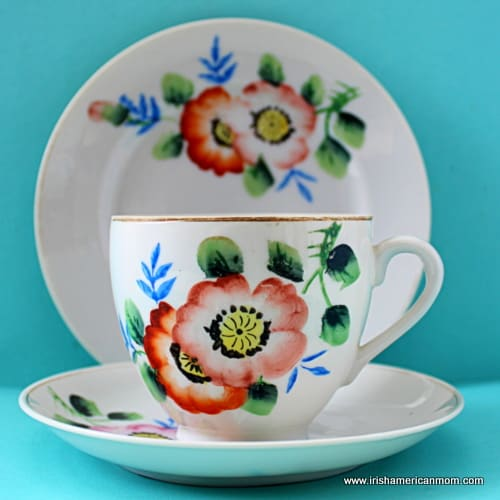 Vintage China Teacup, Saucer and Plate