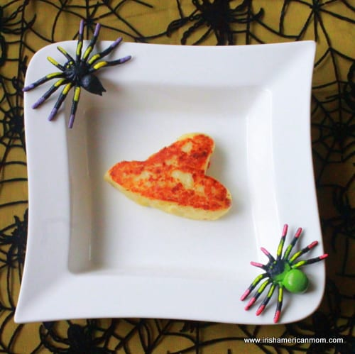 Cheesy Irish Potato Cake for Halloween - Witch's Hat