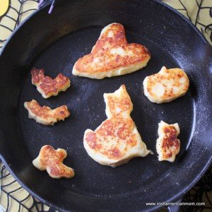 Golden brown Halloween Cheesy Irish Potato Cakes