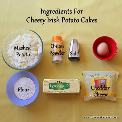 Ingredients for Cheesy Potato Cakes