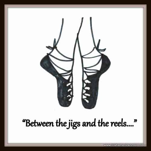 Soft Irish dancing shoes graphic for between the jigs and the reels
