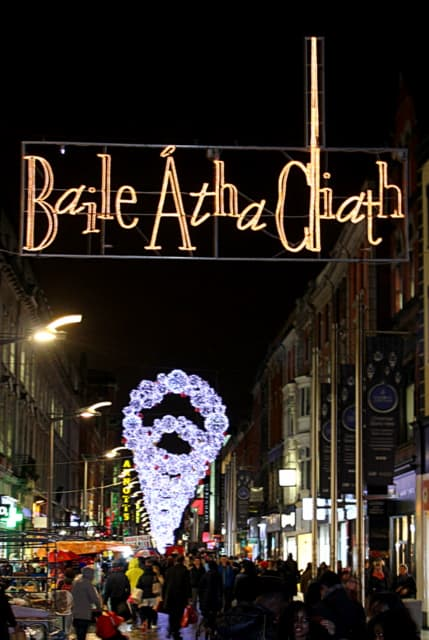 Baile Atha Cliath in Christmas Lights