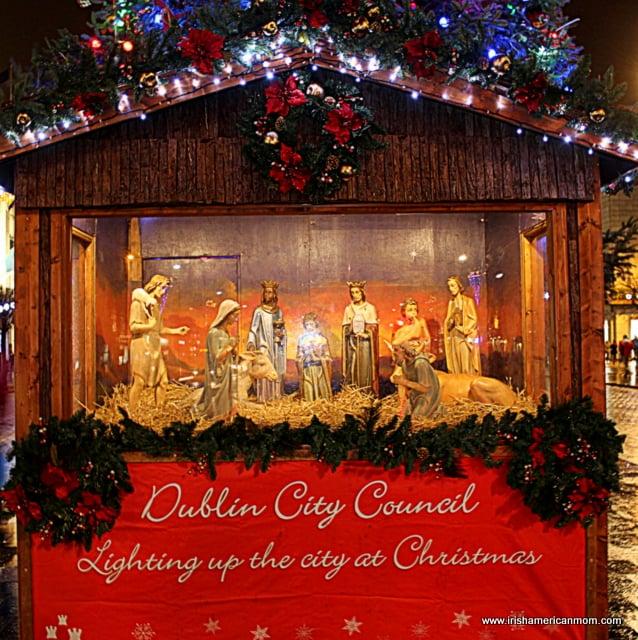 The Dublin City Council Crib on O'Connell Street for Christmas 2014