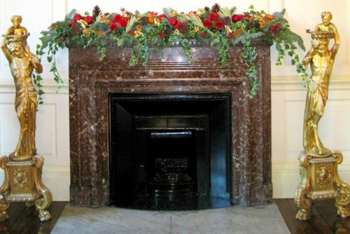 Christmas Fireplace in Dublin Castle