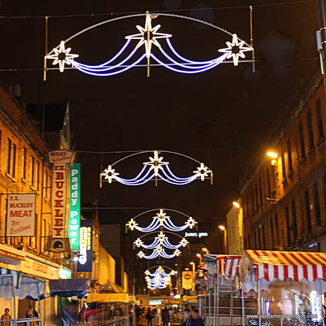 Christmas Lights on Moore Street, Dublin