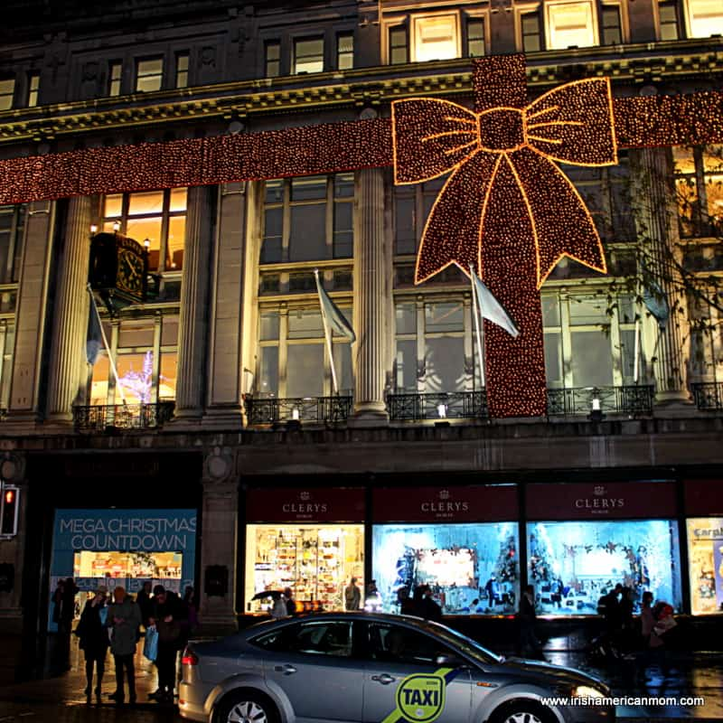 Clerys Dublin - Christmas Bow in Lights