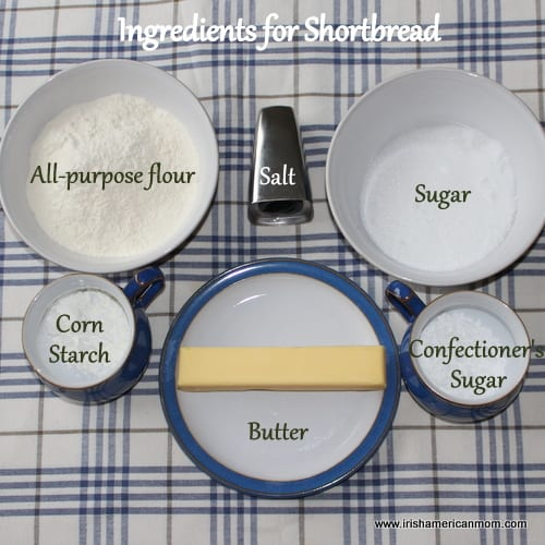 Ingredients for shortbread or petticoat tails