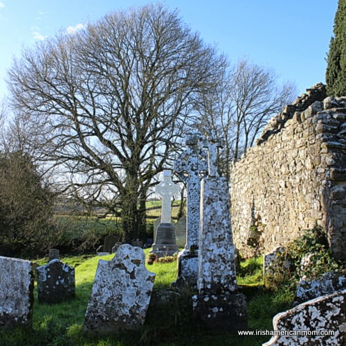 Irish graveyard - Leaba Molloga, Kildorrery, Co. Cork