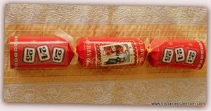 Vintage red style Christmas Cracker
