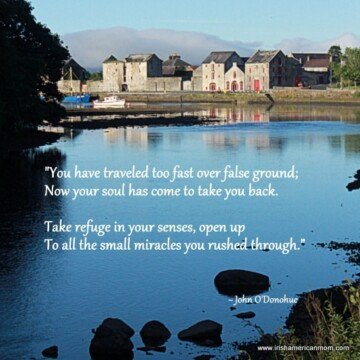 The old mills at Rathmelton County Donegal with a John O'Donohue quotation