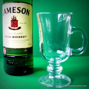 A handled glass for Irish hot whiskey