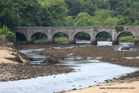 Multi-arched bridge in County Donegal