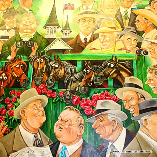 Painting of punters in the stands