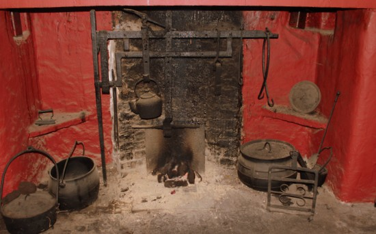 Turf Fire in an old Irish hearth