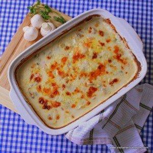 Irish cod and prawn or shrimp seafood bake