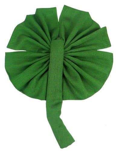 A clover colored Irish green pashmina or shawl