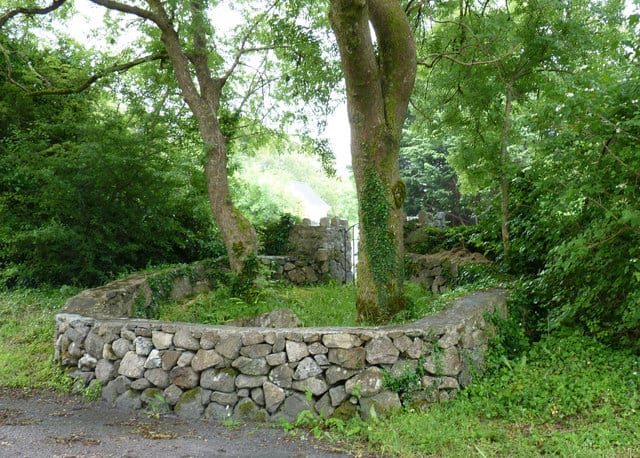 Holy Well in County Galway protected by trees