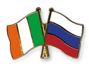Irish and Russian flag