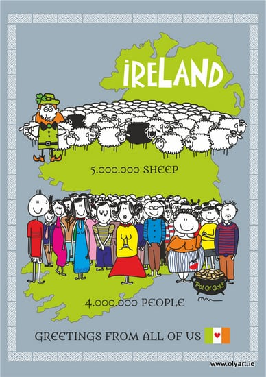 Irish population - sheep and humans