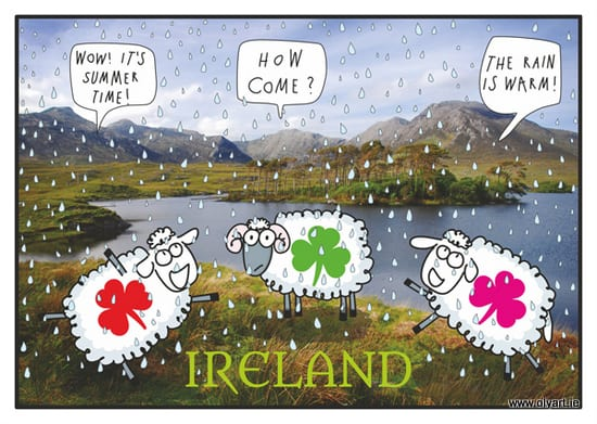 Irish summer - when the rain is warm