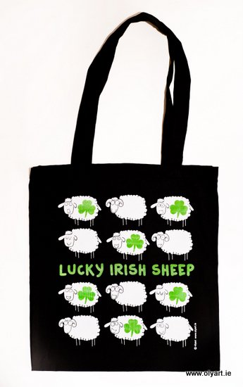 Lucky Irish Sheep Bag by Olyart