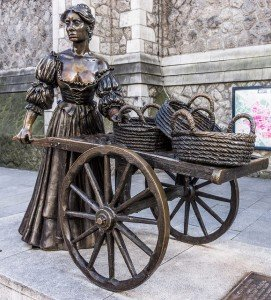 Statue of Molly Malone in Dublin Ireland