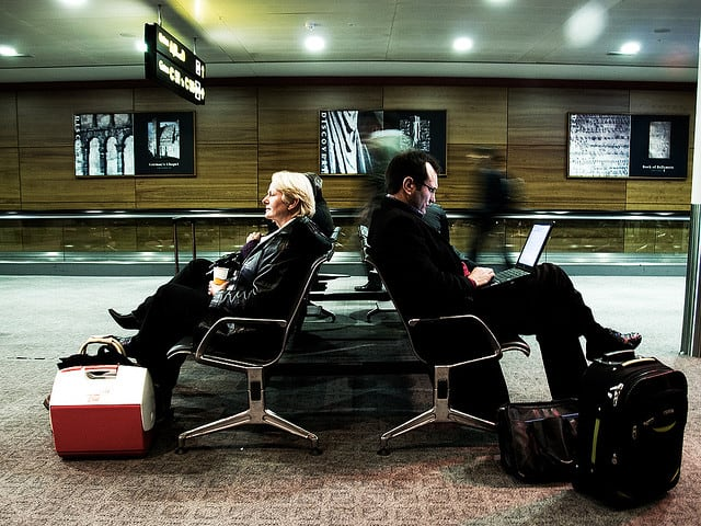 Passengers at Dublin Airport
