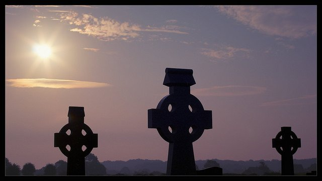 Three Celtic Crosses County Limerick Ireland