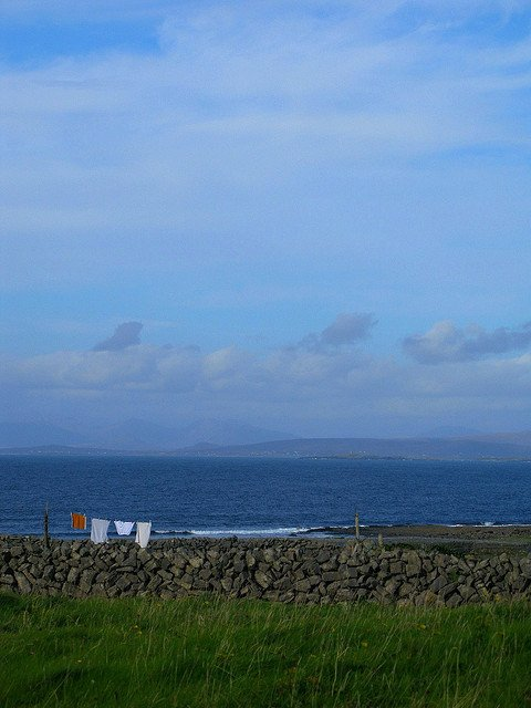 Clothes hanging to dry on the Aran Islands