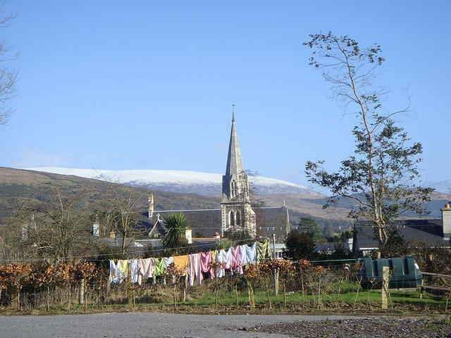 Clothes on the washing line, Kenmare, Co. Kerry