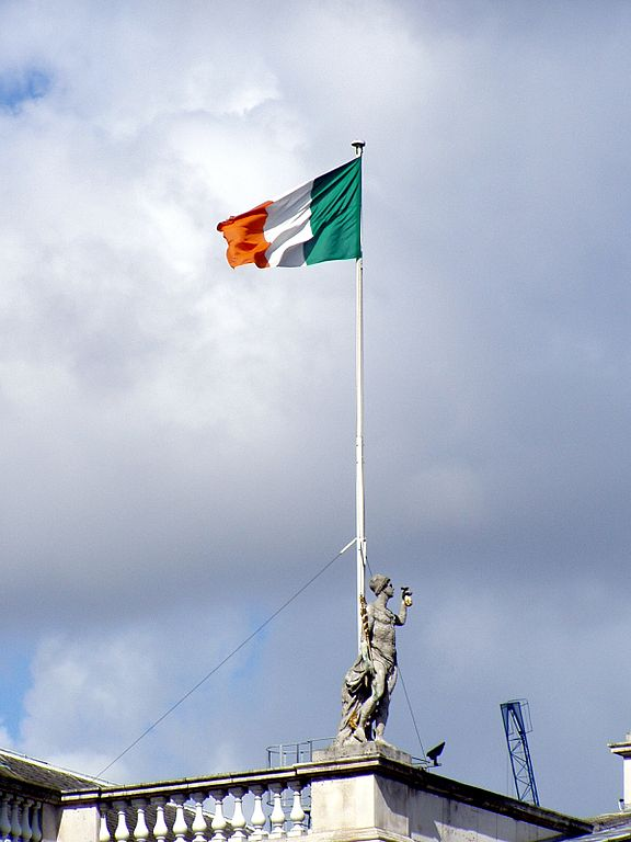 Irish Flag Over The GPO