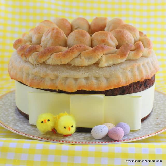 Simnel cake - traditional Easter cake in England and Ireland