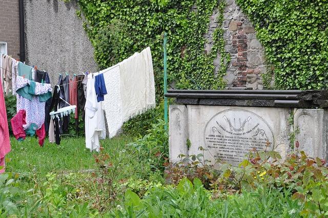 Washing hanging in St. Michan's Church, Dublin