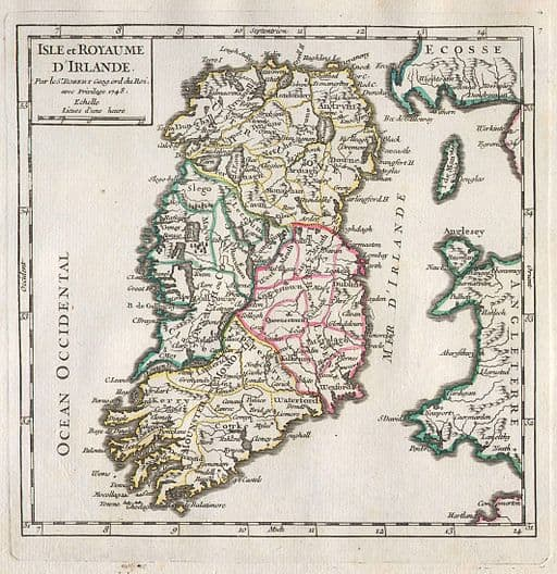 1748 Map Of Ireland
