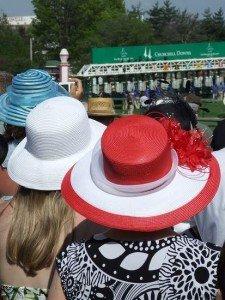 A trio of Kentucky Derby hats