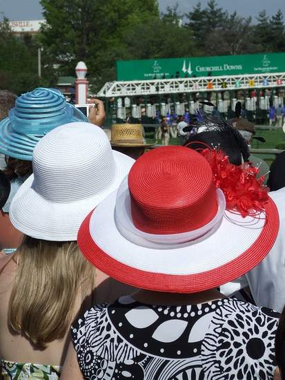 A trio of Kentucky Derby hats