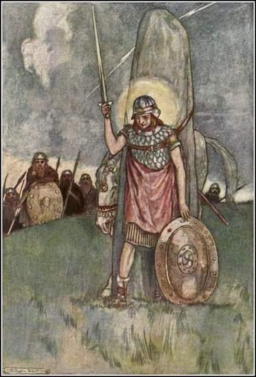 Cuchulainn's Death - illustrated by Stephen Reid 1904