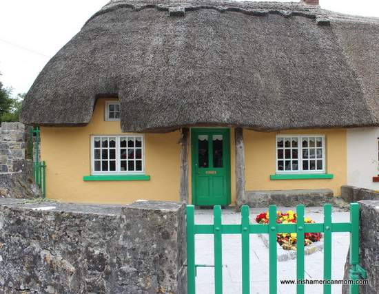 Last home in a row of thatched cottages in Adare