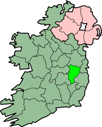 Map of County Kildare, Ireland